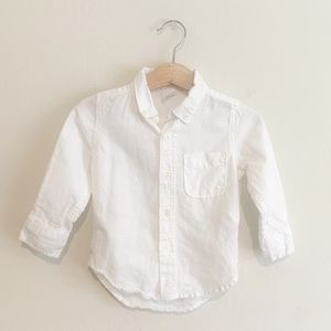 Baby Gap Long sleeve White Button Down